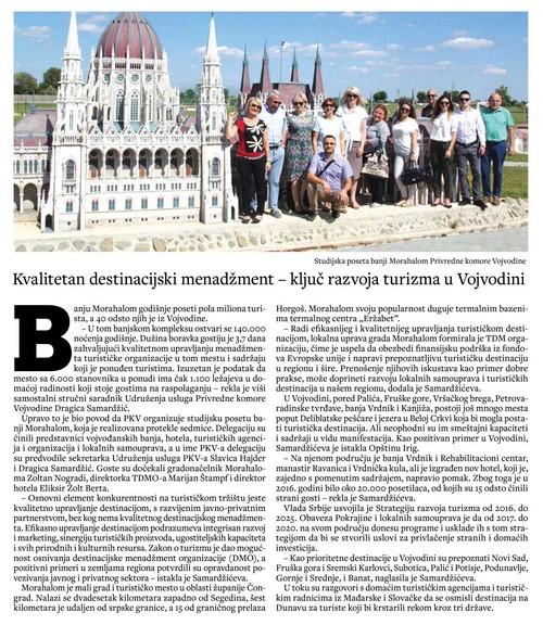 Интервју за НС репортер: Квалитетан дестинацијски менаџмент – кључ развоја туризма у Војводини