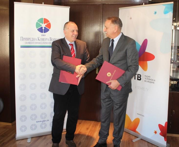 Привредна комора Војводине и Радио телевизија Војводине потписале Протокол о сарадњи