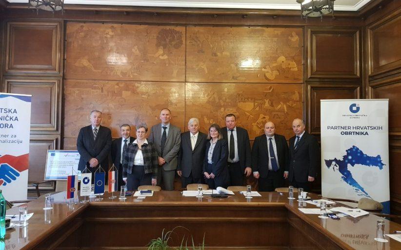 Састанак делегација Привредне коморе Војводине и Хрватске обртничке коморе