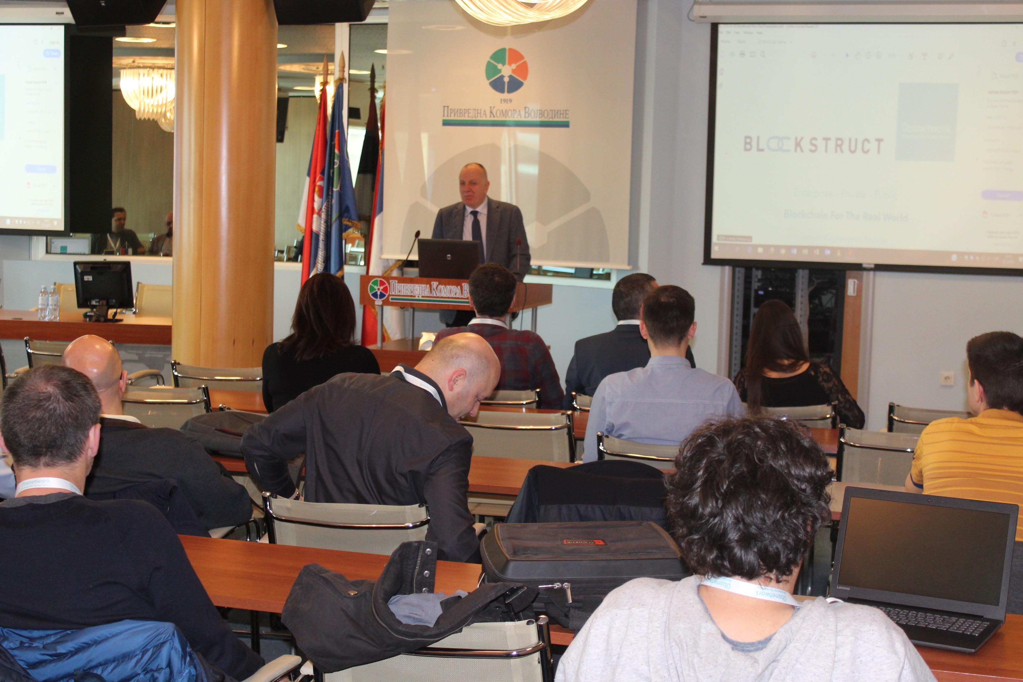 """Пословна решења применом """"0bsnetwork Blockchain"""" технологије треће генерације представљена у Привредној комори Војводине"""