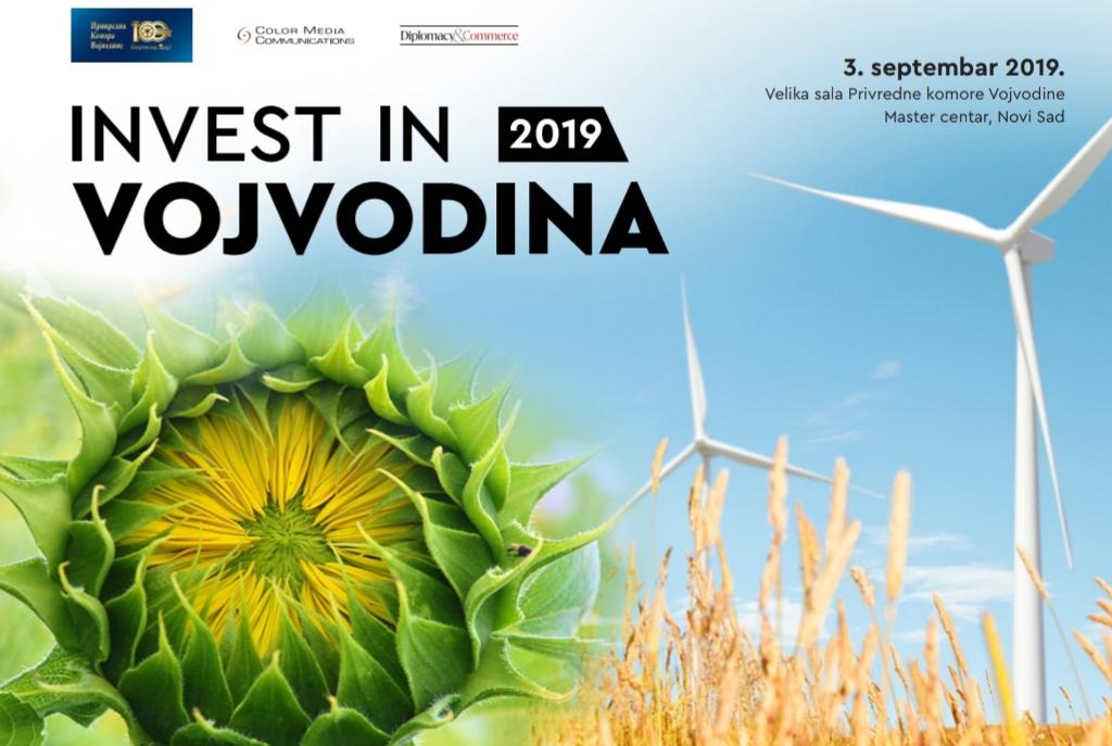 """Најава: Конференција """"Инвестирајте у Војводину"""" у Привредној комори Војводине  3. септембра 2019. године"""