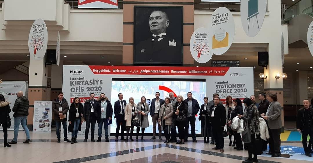 Привредници на Интернационалном сајму канцеларијског материјала и књижара у Истанбулу