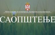 Ministarstvo poljoprivrede, šumarstva i i vodoprivrede izdalo Uputstvo za vlasnike stoke i pčelare