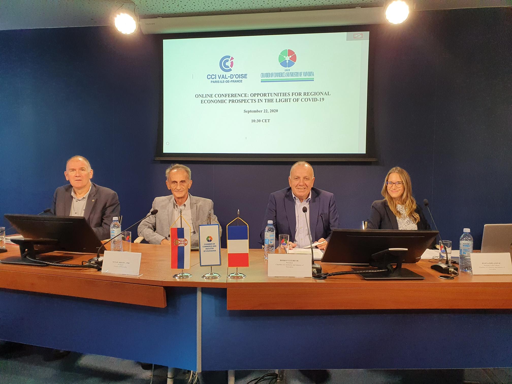 Онлајн сусрет представника Привредне коморе Војводине   са партнерима из Привредне коморе Вал Доаза