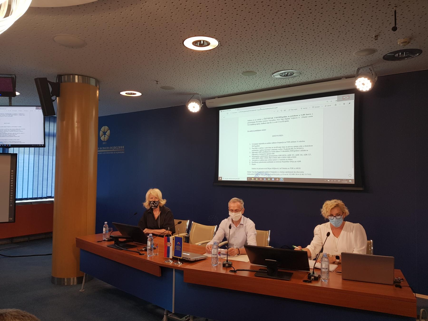 Одржана осма  седница Групације за транспорт опасне робе  Привредне комора Војводине
