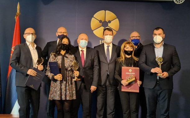 У Привредној комори Војводине свечано је обележена 102. годишњица и додељене су годишње награде за значајна привредна остварења у 2020. години